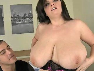 Arianna Lets Some Guy Play With Her Gigantic Tits Before They Bang