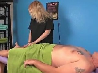 Blonde Masseuse Touches Clients Cock Accidentally Txxx Com