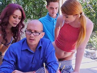 Adria Rae And Her Nasty Gf Are Fucked Under Husband's Nose