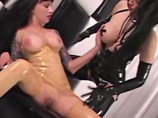 Latex Lesbians Rubberdoll Amp Rubber Painted Lady Strapon Fuck 124 Redtube Free Pov Porn
