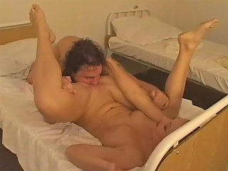 Kinky Guy Fucks Her Pussy Then Cums On Her Strapon