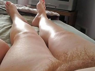 My Uncut Cock Wifes Feet Hairy Pussy Tits Chubby Belly