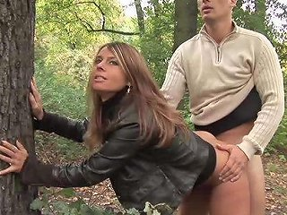 Horny German Stepmom Picked Up For Real Wild Sex In Nature
