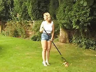 British Josephine James Gives A Blowjob In The Garden Nuvid