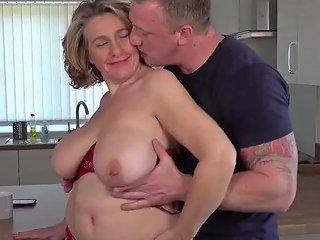 Hungry Busty Mom Fucks Lucky Son