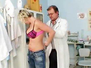 Blonde Gabriela Gyno Speculum Exam At Kinky Clinic Drtuber