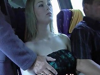 Big Boobs In White Shirt Groped On The Bus Part 2