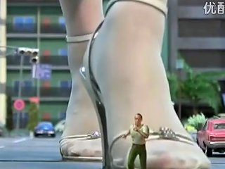 Giantess B Crushes City 05