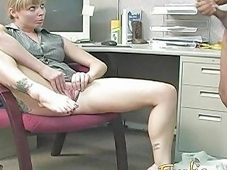 Bossy Blonde Office Bitch Dominates And Humiliates