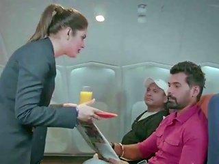 Big Tits Air Hostess Seducing Her Passenger For Sex