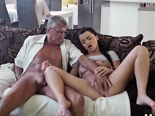 Russian Brunette Mature Big Tits And Amateur Teen Cant Wait To Fuck What